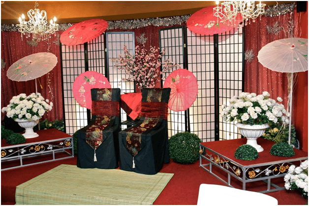 Ichi ni san japanese wedding theme 800 942 6281 for Japanese themed garden