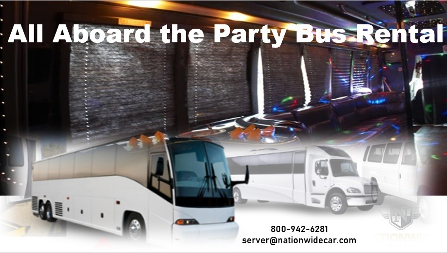 All Aboard the Party Bus Rental