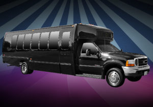 22 Pax Party Bus Ext Houston Limo Service