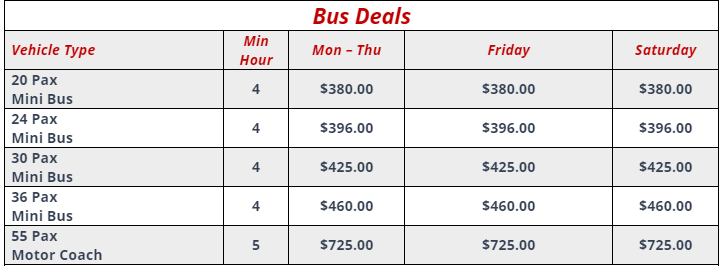 Cheap Bus Deals