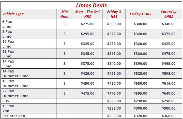 Limo Deals