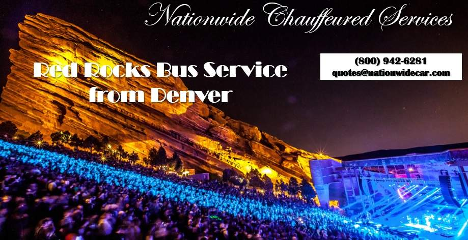Denver Party Bus to Red Rocks Concert