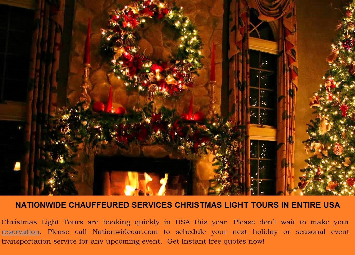 Limo for Christmas Light Tours