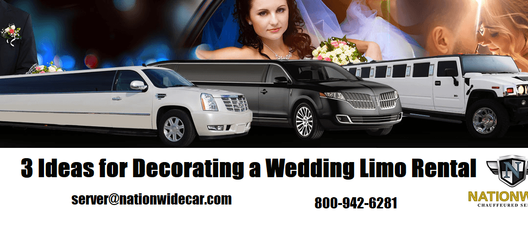 3 Ideas for Decorating a Wedding Limo Rental