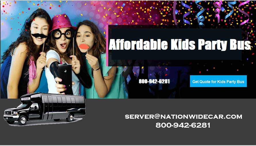 Affordable Kids Party Bus Rental