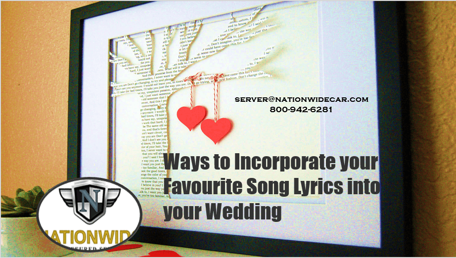 Ways to Incorporate your Favorite Song Lyrics into your Wedding