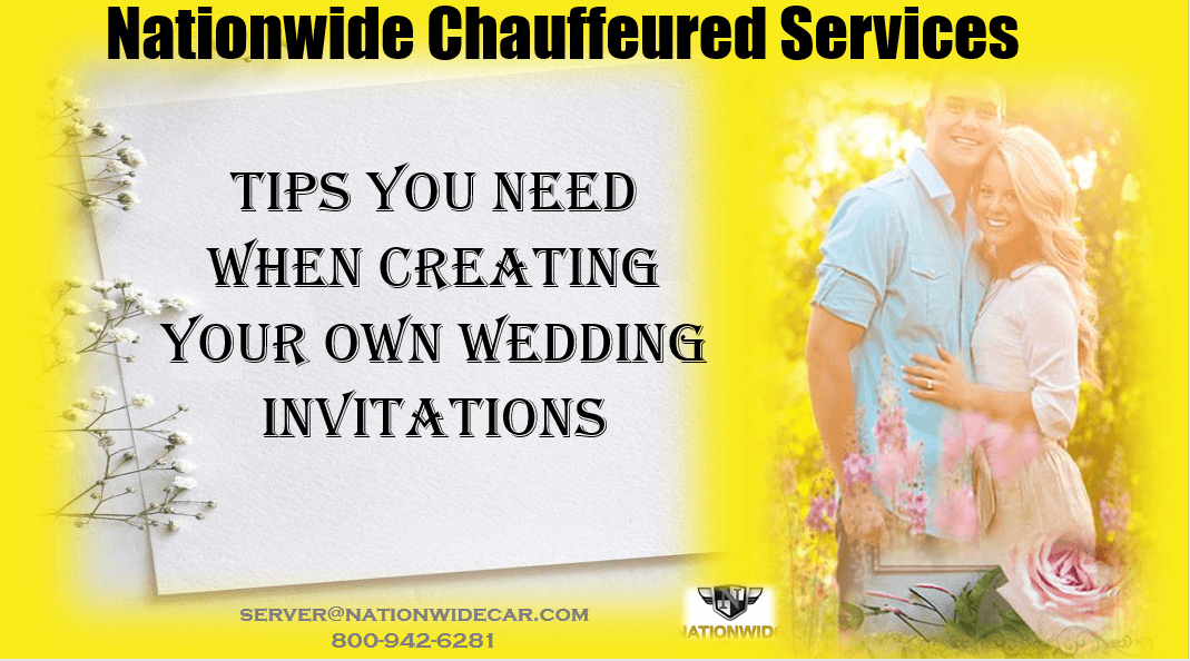 Tips you Need when Creating your own Wedding Invitations