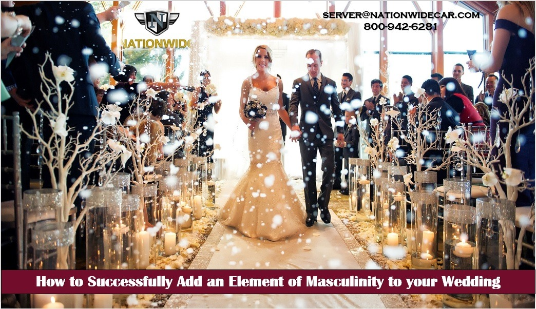 How to Successfully Add an Element of Masculinity to your Wedding