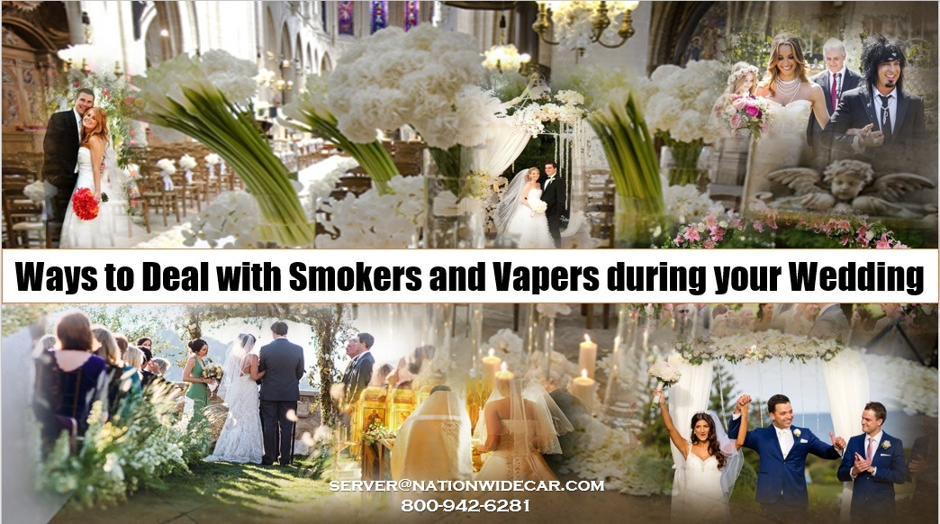 How to Deal with Smokers and Vapers at your Wedding