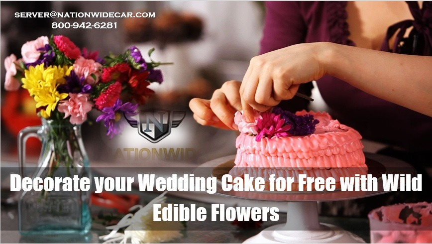 Decorate your Wedding Cake for Free with Wild Edible Flowers