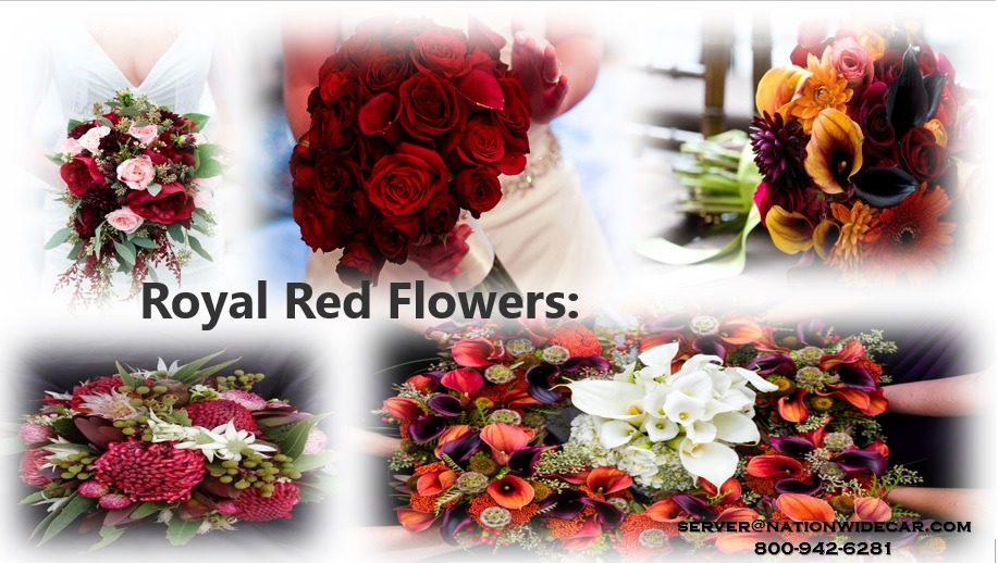 Royal red flowers for Wedding