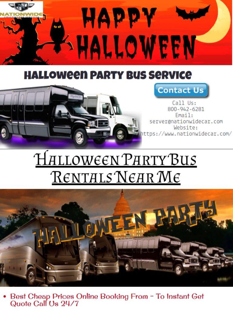 Halloween Party Bus Rentals