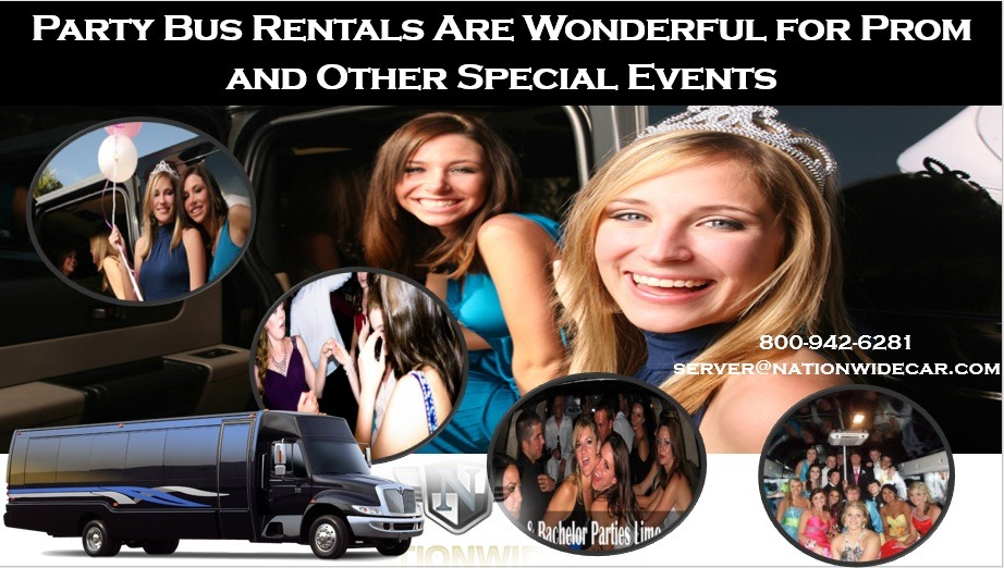 Party Bus Rentals Are Wonderful for Prom and Other Special Events