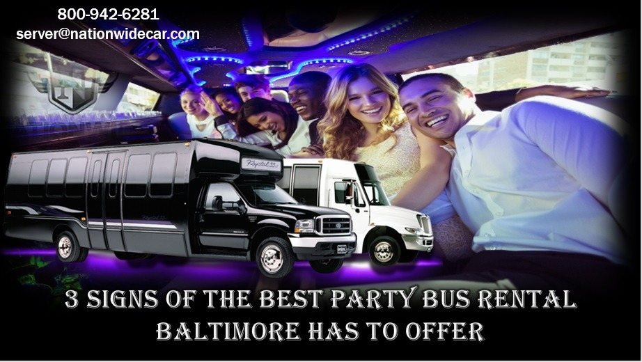 3 Signs of the Best Party Bus Rental Baltimore Has to Offer