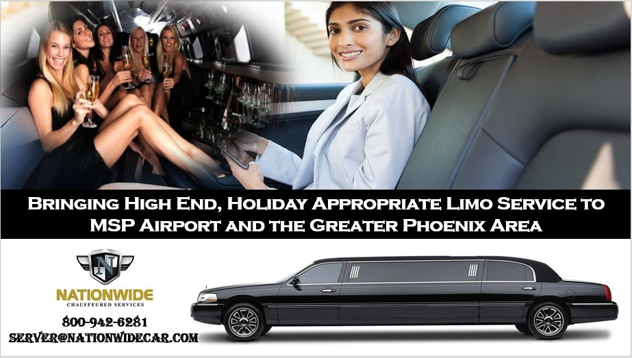 Bringing High End, Holiday Appropriate Limo Service to MSP Airport and the Greater Phoenix Area