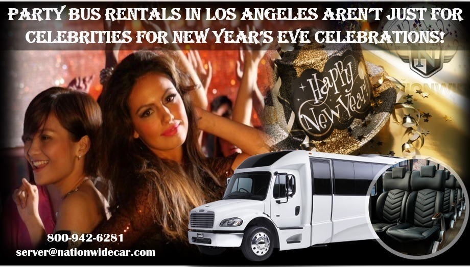 Party Bus Rentals in Los Angeles Aren't Just for Celebrities for New Year's Eve Celebrations!