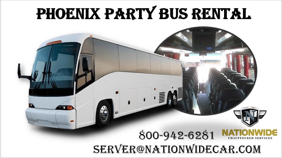 Phoenix party bus rental service