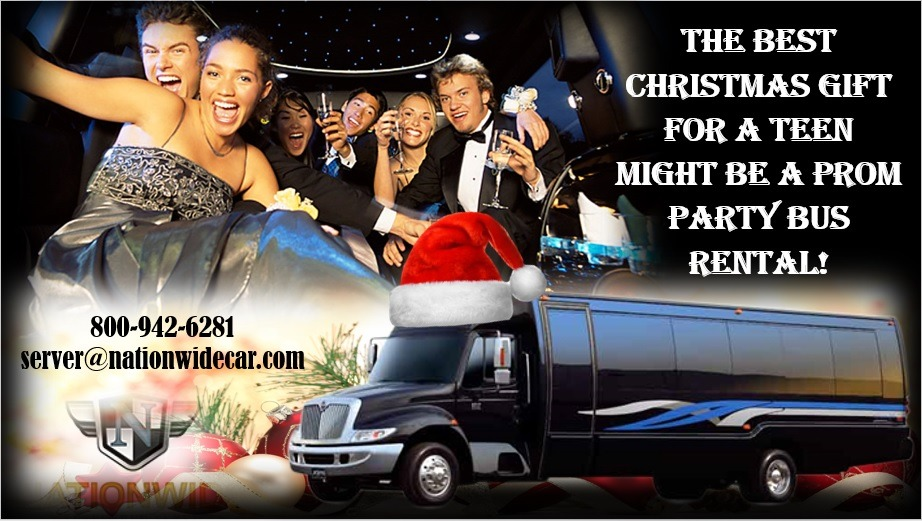 The Best Christmas Gift for a Teen Might Be a Prom Party Bus Rental!