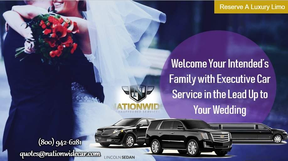Welcome Your Intended's Family with Executive Car Service in the Lead Up to Your Wedding