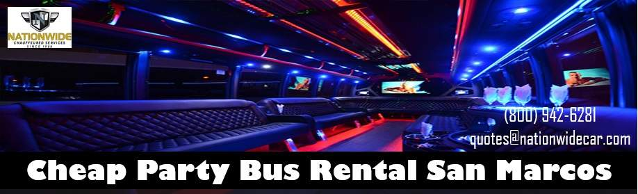 Party Bus Rentals Near San Marcos