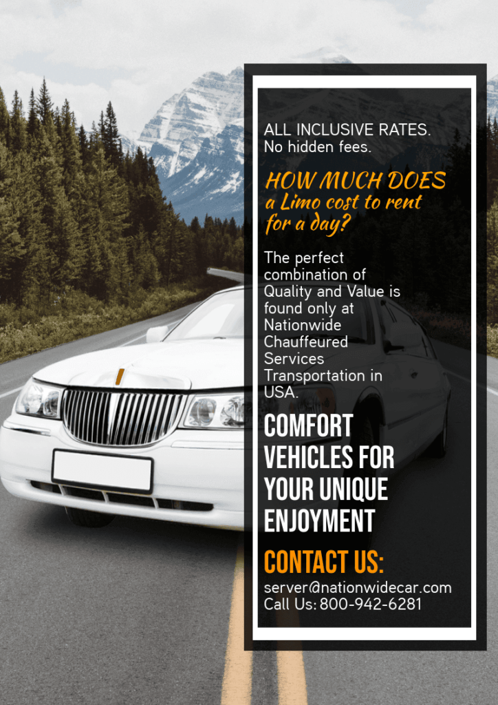 How Much Does A Limo Cost To Rent For A Day - (800) 942-6281