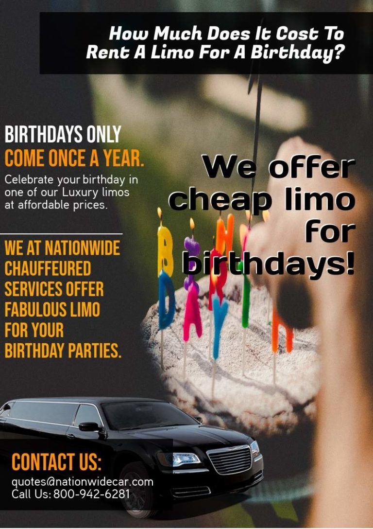 How Much Does It Cost To Rent A Limo For A Birthday - (800 ...