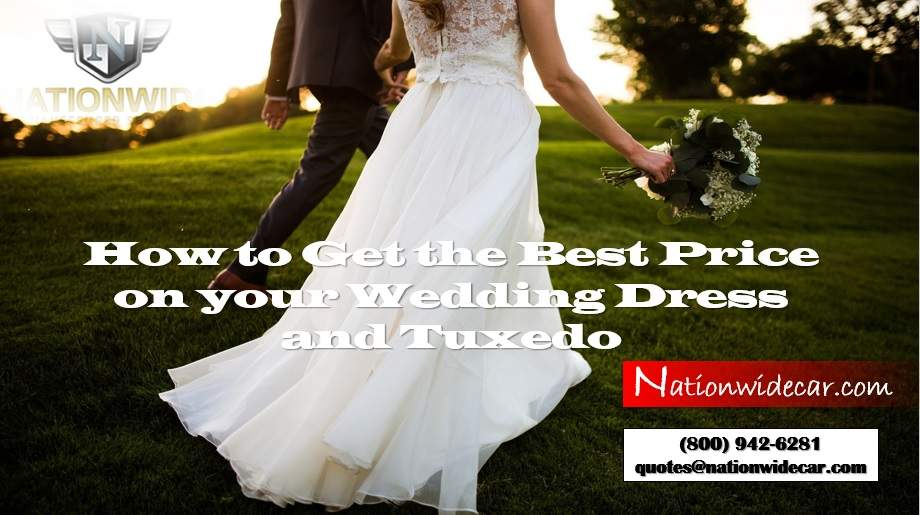 How to Get the Best Price on your Wedding Dress and Tuxedo