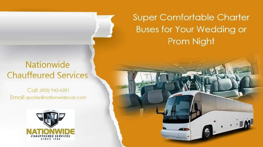 Super Comfortable & Cheap Charter Buses for Your Wedding or Prom Night