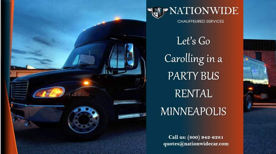 Let's Go Caroling in a Party Bus Rental Minneapolis