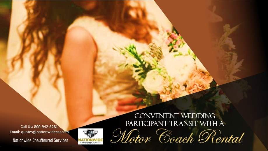Convenient Wedding Participant Transit with a Motor Coach Rental