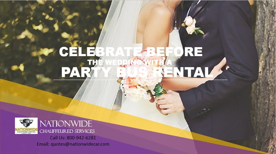 Celebrate Before the Wedding with a Party Bus Rental