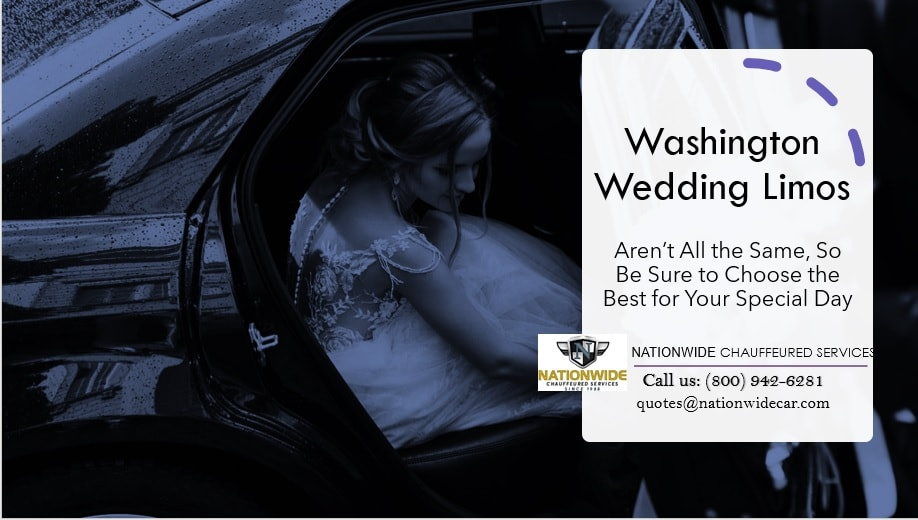 Washington Wedding Limos Aren't All the Same, So Be Sure to Choose the Best for Your Special Day